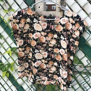 Forever 21 Floral Boxy Shirt